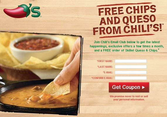 chilis website incentive example