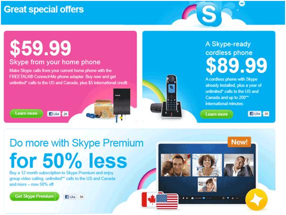 Skype USA website