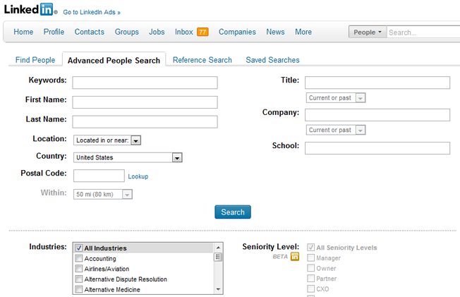 advanced and alternative search engines linkedin people search
