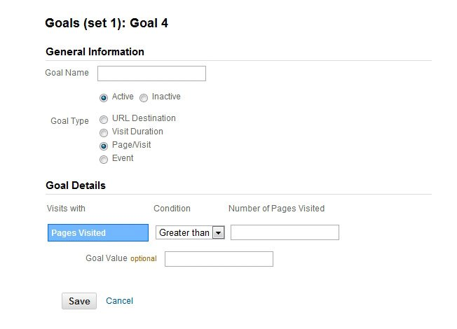 Pages Per Visit Goal Google Analytics