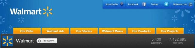 Walmart YouTube Banner