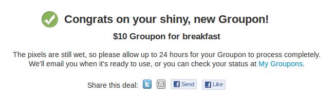 groupon post deal