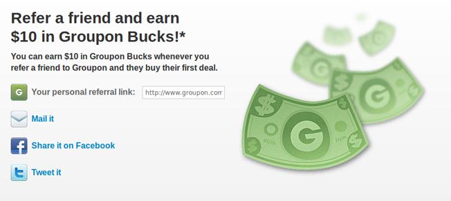 Groupon Refer a Friend Program