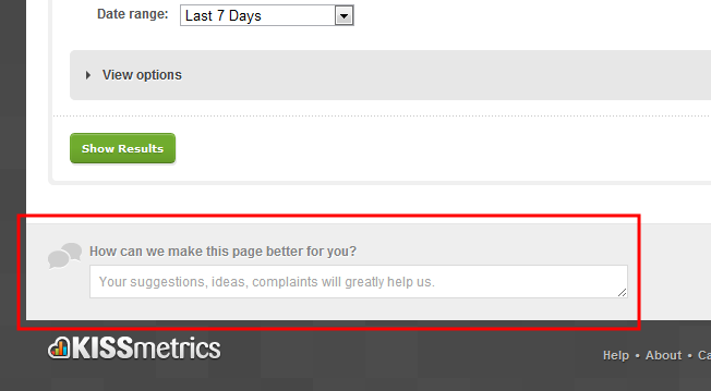 KISSmetrics People Report Feedback