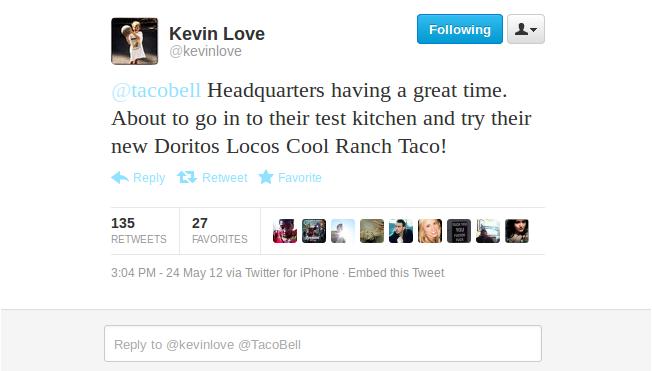 Love Taco Bell Tweet