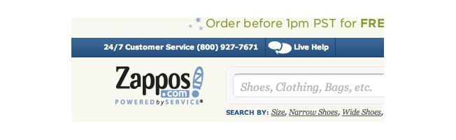 zappos contact info