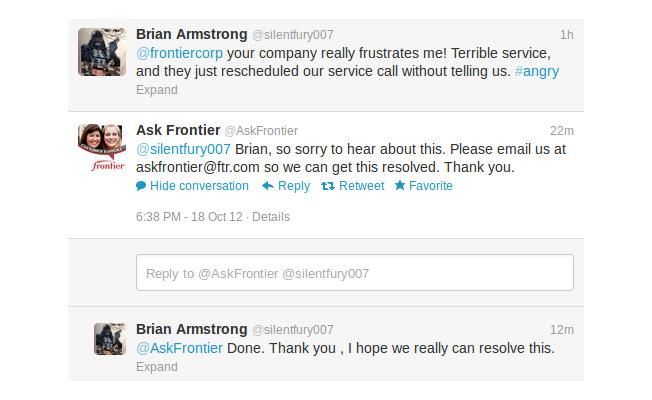 Frontier Twitter