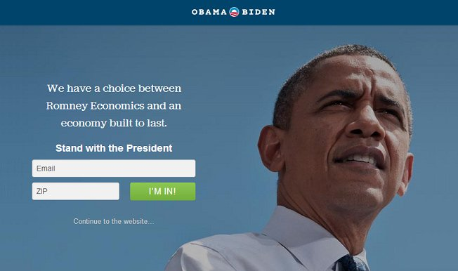 stand with the president landing page