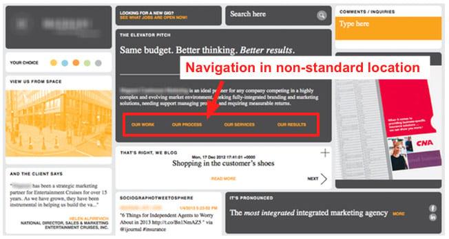 non standard navigation
