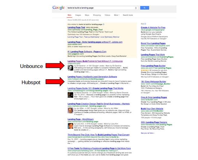 hubspot google search