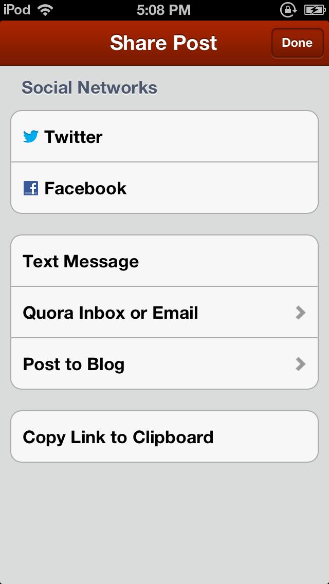 quora social network selection