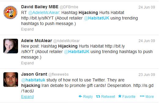 Habitat UK hijacking