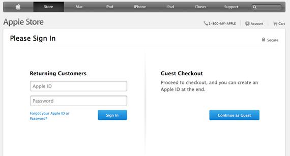 apple.com checkout