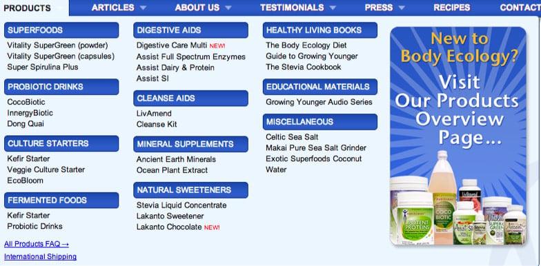 body ecology menu