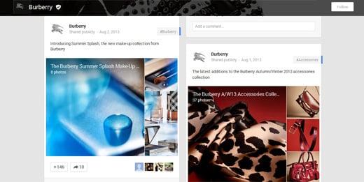 burberry Google Plus