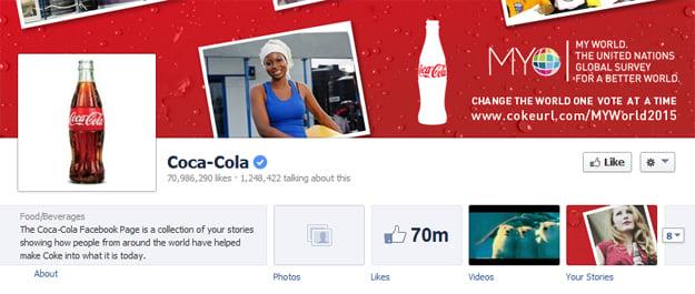 coke Facebook page