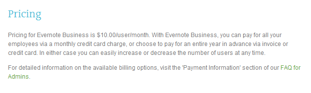 evernote pricing 3