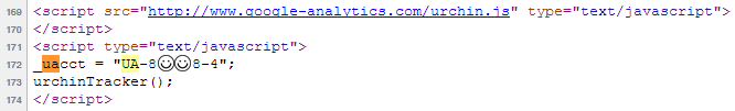verifying google analytics in source code