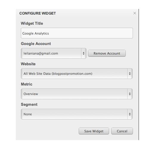 cyfe configure widget