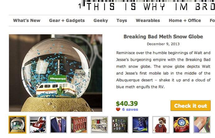 breaking bad snow globe
