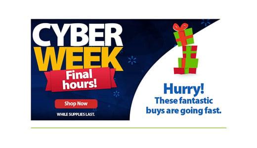 cyber week ad