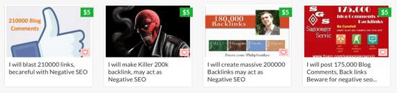 negative seo advertisement