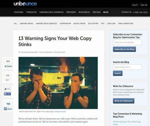 2 Unbounce blog