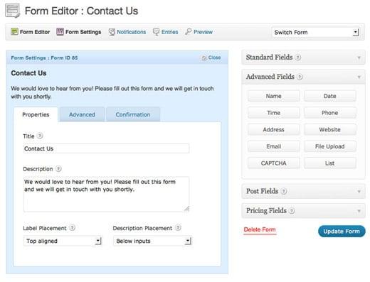 25 form editor