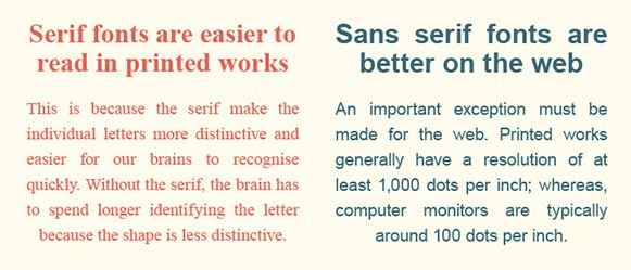 serif vs. sans serif how do you ab test a webpage