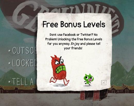 free bonus level