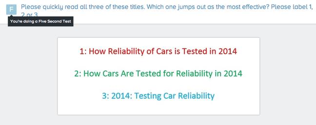 reliability test