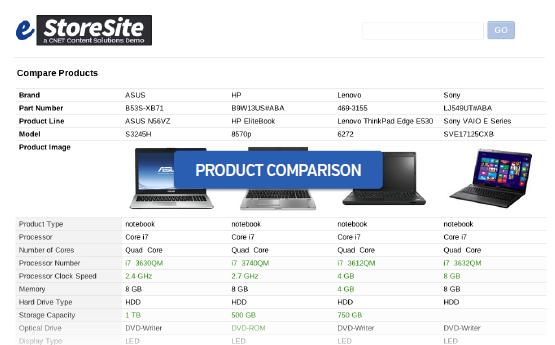 e storesite product comparison