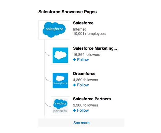 8 salesforce showcase pages