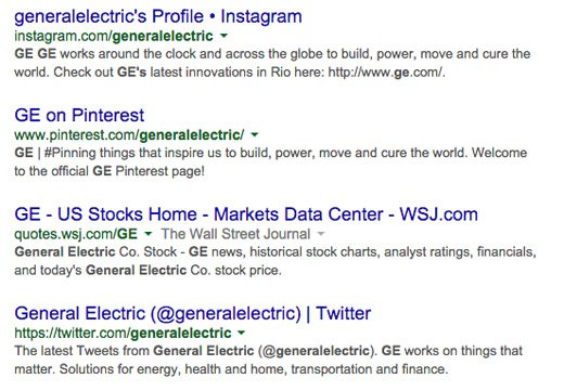 ge social search results