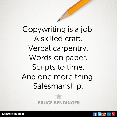 SEO copy writing - quote about what copywriting is