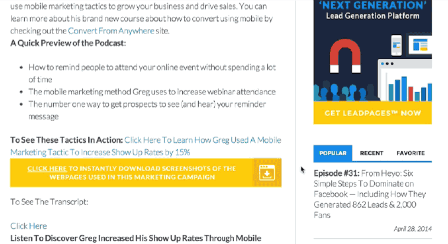 leadpages example