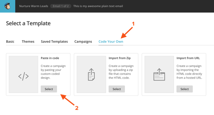 Awesome MailChimp Automation Hacks Lead Scored Emails Pre - How to create a template in mailchimp