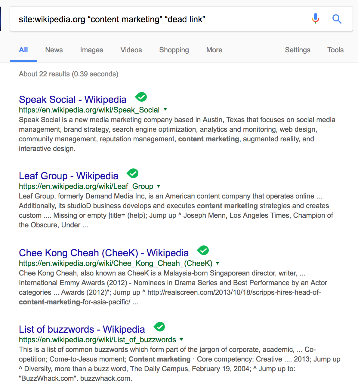 advanced SEO techniques find broken links