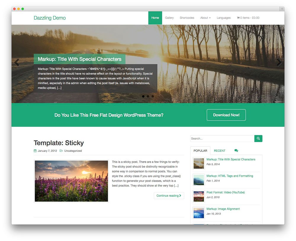 32 free wordpress themes for effective content marketing for Create blog page template wordpress