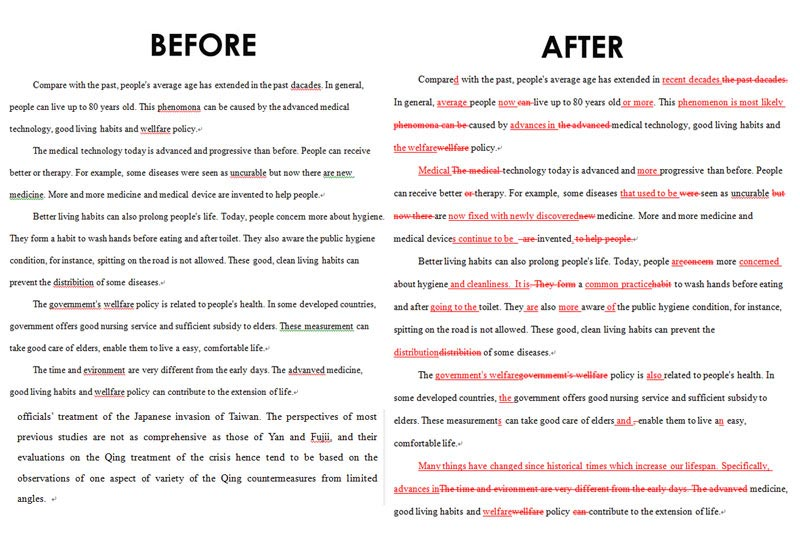 texto before after