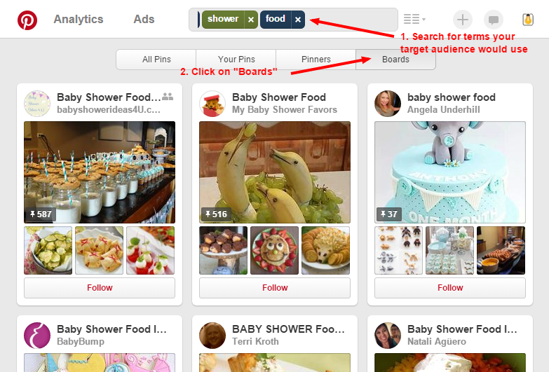 Pinterest Board Search