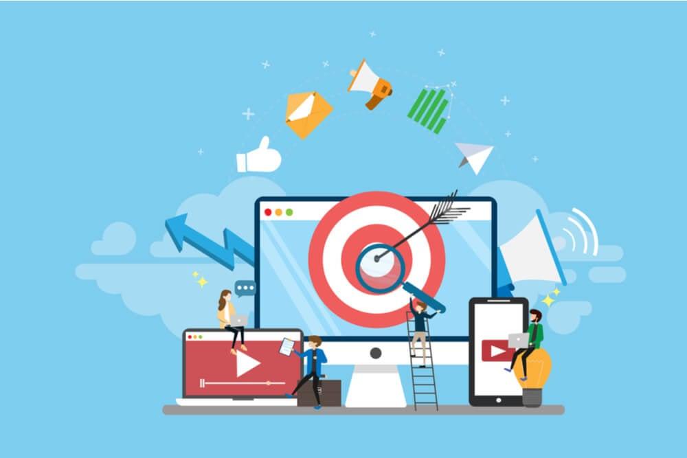 setor de marketing e geração de leads