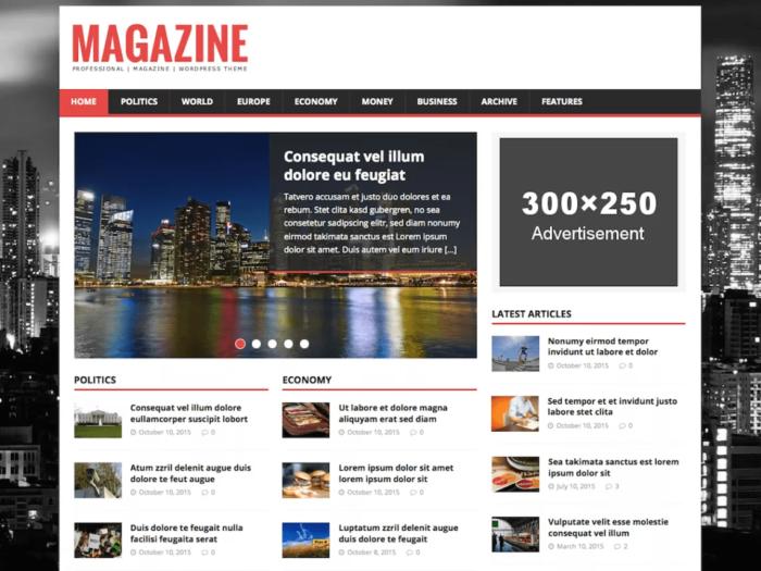 tema wp magazine