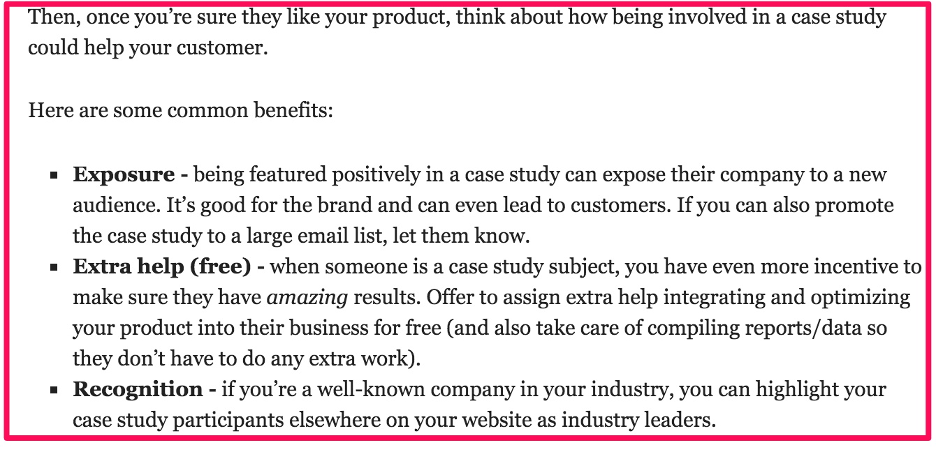 why you need to create case studies a data driven answer once you customers that love your products and have gotten great results it s time to decide the interview questions you ll ask the customer