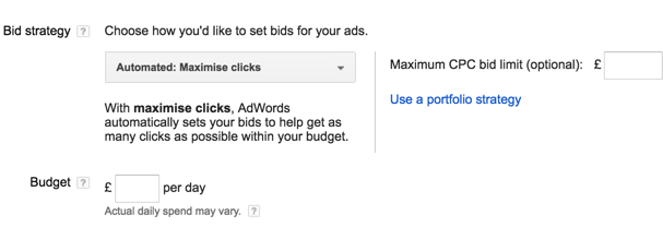 google search network ads bid
