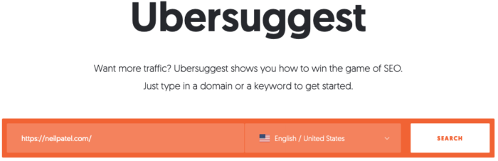 seo tips use ubersuggest to check site speed.
