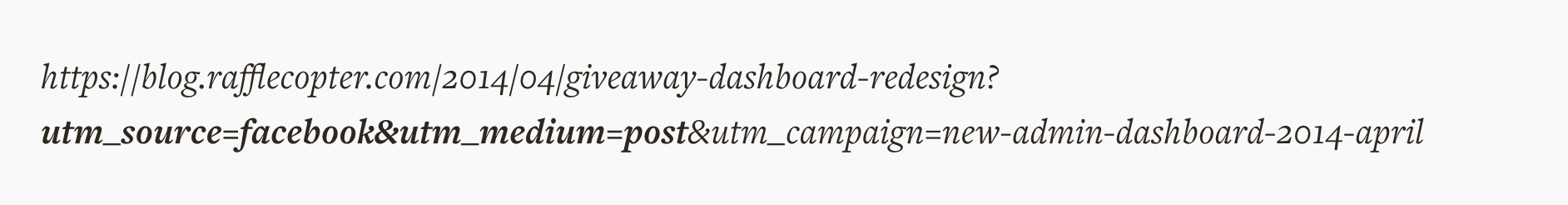 UTM parameters example