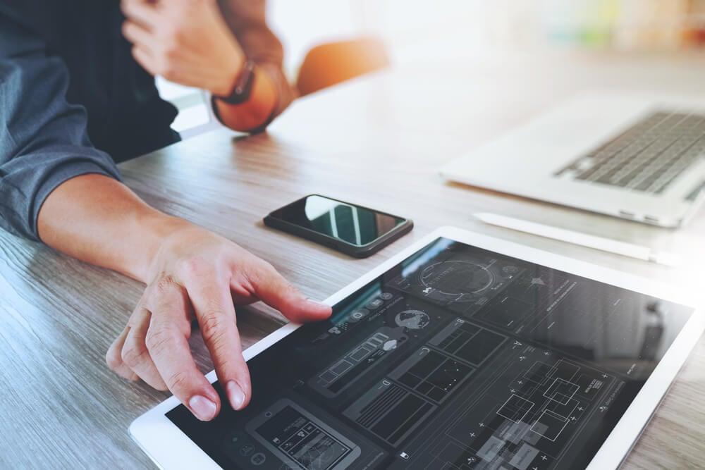 metricas em um tablet