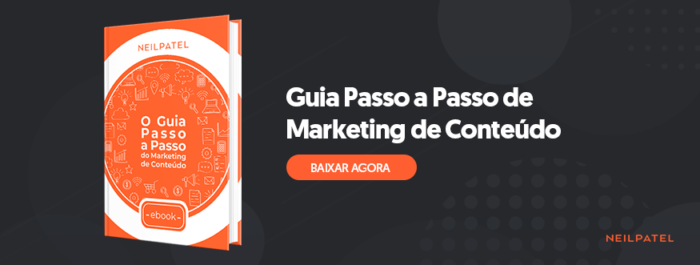 guia passo a passo de marketing de conteúdo