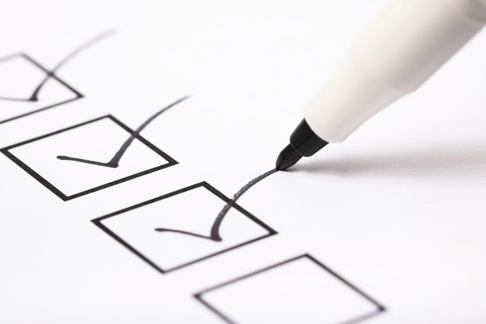 checklist de itens importantes para introdução